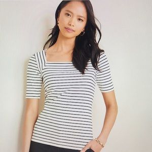 """Ann Taylor """"Square Neck"""" Luxe Tee"""
